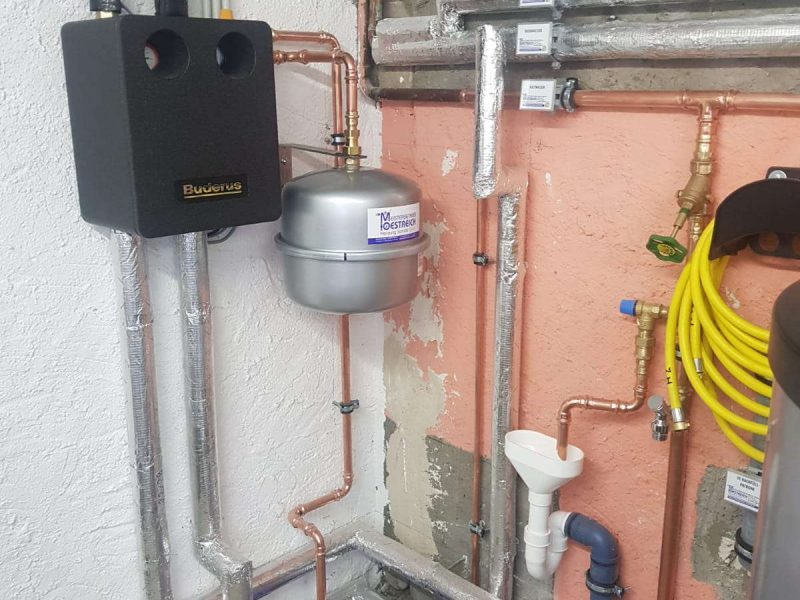 Öl Heizung gegen Gas Brennwert mit Solar getauscht in Geisenheimd (35)